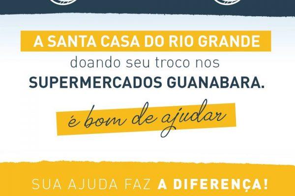 Doe seu troco no Supermercados Guanabara e ajude a Santa Casa