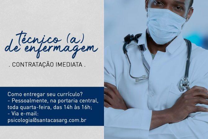 TEMOS VAGA: Técnico (a) de Enfermagem