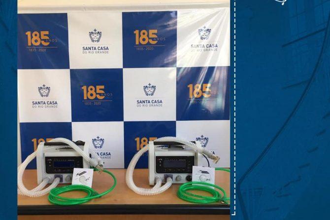 Santa Casa recebe doação de ventiladores de transporte
