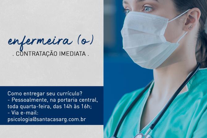 TEMOS VAGA: Enfermeiro(a)