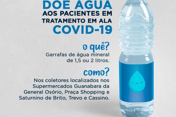 Doe água aos pacientes em tratamento em ala COVID-19
