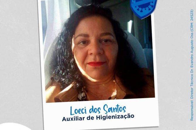 Eu faço parte da linha de frente, eu sou Santa Casa do Rio Grande: Loeci Maria Bjerk dos Santos