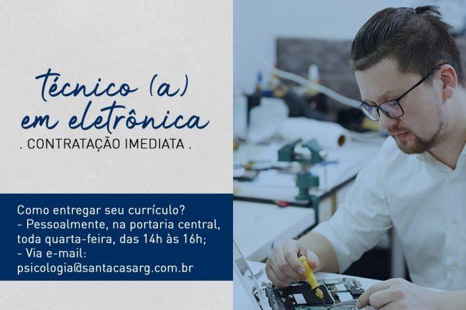 TEMOS VAGAS: Técnico em eletrônica