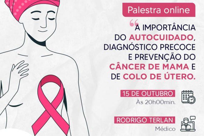 """Santa Casa promove palestra """"A importância do autocuidado, diagnóstico precoce e prevenção do câncer de mama e de colo de útero"""""""