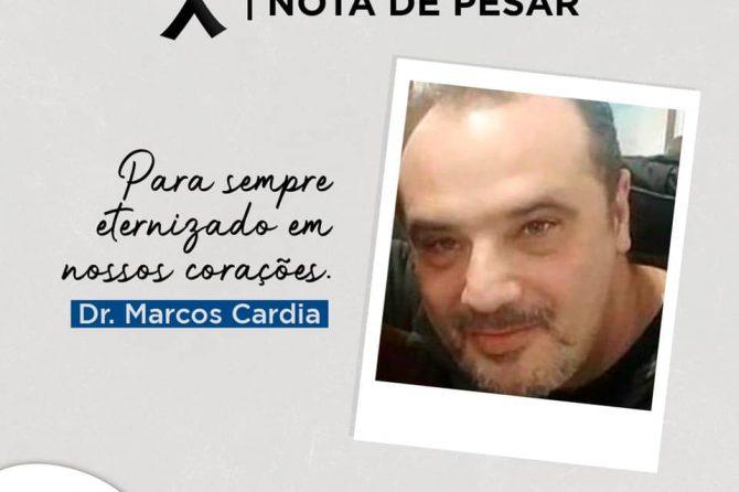 NOTA DE PESAR | Falecimento de Dr. Marcos Cardia de Oliveira Cardoso
