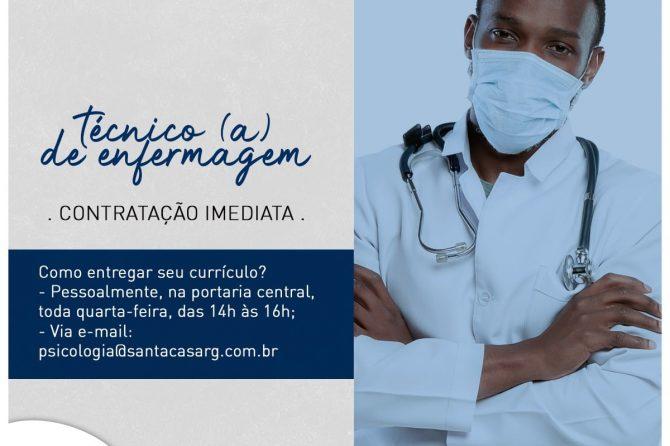 TEMOS VAGA: Técnico (a) em enfermagem