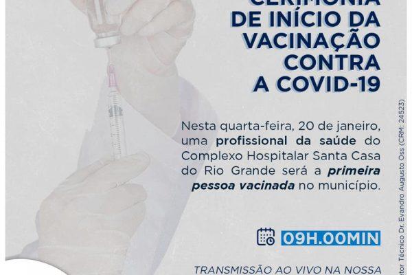 Enfermeira da Santa Casa do Rio Grande será a primeira vacinada em Rio Grande