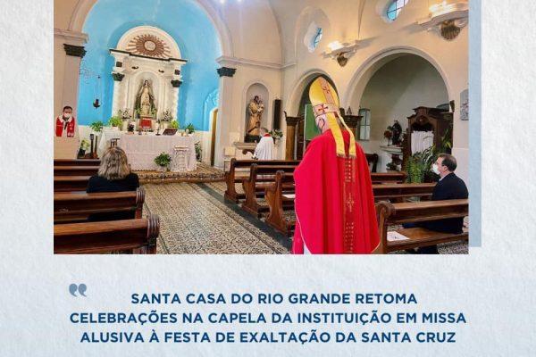 Santa Casa retoma celebrações na capela da instituição em missa alusiva à Festa da Exaltação da Santa Cruz