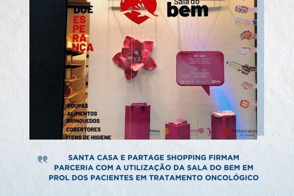Santa Casa e Partage Shopping firmam parceria com a utilização da Sala do Bem em prol dos pacientes em tratamento oncológico